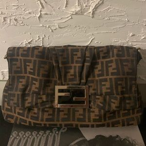 Authentic Fendi large flap bag
